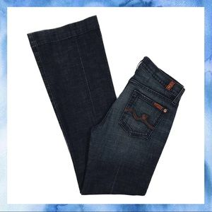 Rare 7 For All Mankind Dojo Flare in Dark Wash